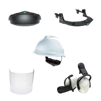 Gezichtsbescherming MSA V-Gard (Incl. Helm, Frame, Vizier, Gehoorkap & Kinbeschermer)