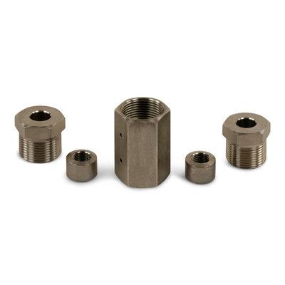 Rechte Koppeling 4200 bar M14 x 1,5L(incl. Drukmoeren, Drukringen, Mof)